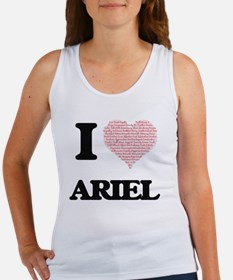 I Love Ariel (Heart Made from Love words) Tank Top