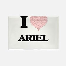 I Love Ariel (Heart Made from Love words) Magnets