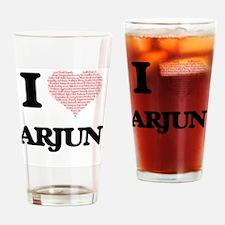 I Love Arjun (Heart Made from Love Drinking Glass