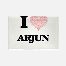 I Love Arjun (Heart Made from Love words) Magnets