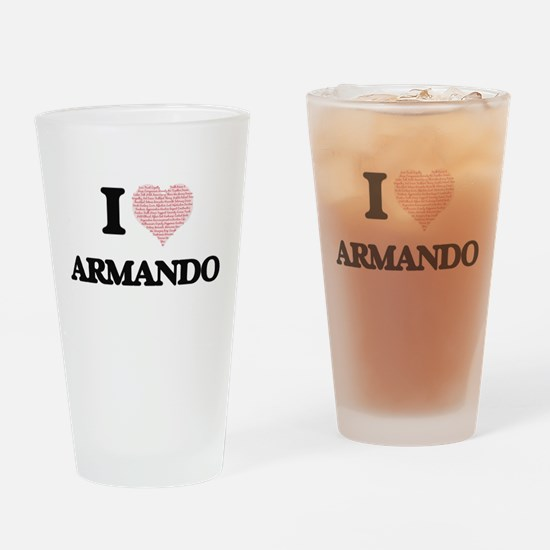 I Love Armando (Heart Made from Lov Drinking Glass