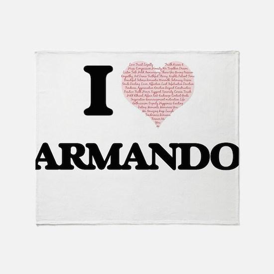 I Love Armando (Heart Made from Love Throw Blanket
