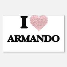 I Love Armando (Heart Made from Love words Decal