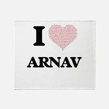 I Love Arnav (Heart Made from Love w Throw Blanket