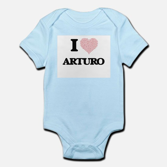 I Love Arturo (Heart Made from Love word Body Suit
