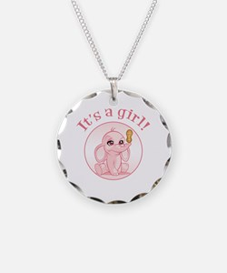 Funny Mother elephant and baby elephant Necklace
