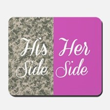 Camo His Side/ pink Her Side Mousepad