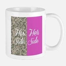 Camo His Side/ pink Her Side Mugs