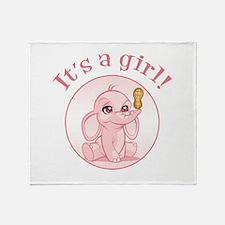 Baby girl (elephant) Throw Blanket