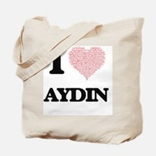 I Love Aydin (Heart Made from Love words) Tote Bag