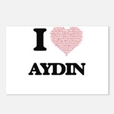 I Love Aydin (Heart Made Postcards (Package of 8)