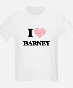 I Love Barney (Heart Made from Love words) T-Shirt
