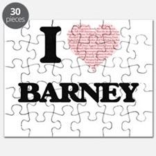 I Love Barney (Heart Made from Love words) Puzzle