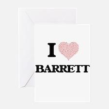 I Love Barrett (Heart Made from Lov Greeting Cards