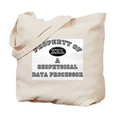 Property of a Geophysical Data Processor Tote Bag