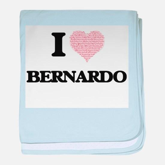 I Love Bernardo (Heart Made from Love baby blanket