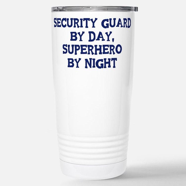 Cute Guard job security Travel Mug