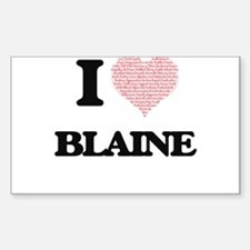 I Love Blaine (Heart Made from Love words) Decal