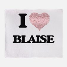 I Love Blaise (Heart Made from Love Throw Blanket