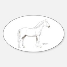 Lipizzaner Horse Oval Decal