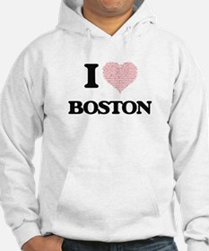 I Love Boston (Heart Made from L Hoodie