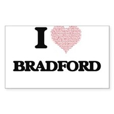 I Love Bradford (Heart Made from Love word Decal
