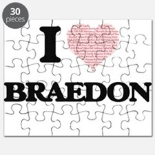 I Love Braedon (Heart Made from Love words) Puzzle