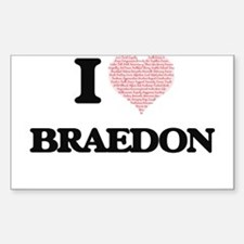 I Love Braedon (Heart Made from Love words Decal