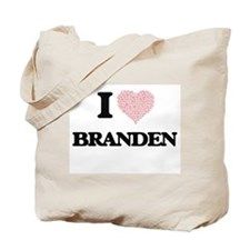 I Love Branden (Heart Made from Love word Tote Bag