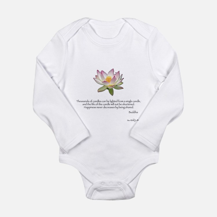 Cute Compassion dalai lama Long Sleeve Infant Bodysuit