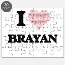 I Love Brayan (Heart Made from Love words) Puzzle