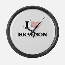 I Love Braydon (Heart Made from L Large Wall Clock