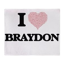 I Love Braydon (Heart Made from Love Throw Blanket