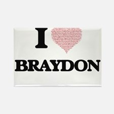 I Love Braydon (Heart Made from Love words Magnets