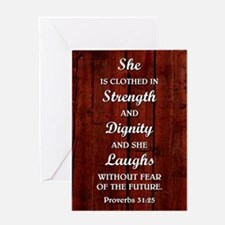 PROVERBS 31:25 Greeting Card