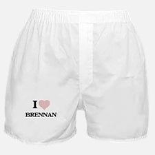 I Love Brennan (Heart Made from Love Boxer Shorts