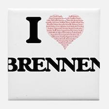 I Love Brennen (Heart Made from Love Tile Coaster