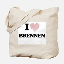I Love Brennen (Heart Made from Love word Tote Bag