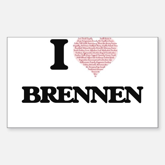 I Love Brennen (Heart Made from Love words Decal