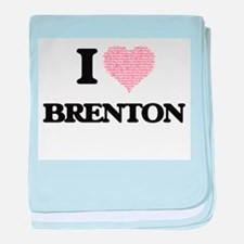 I Love Brenton (Heart Made from Love baby blanket