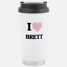 I Love Brett (Heart Mad Travel Mug