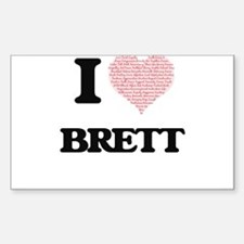 I Love Brett (Heart Made from Love words) Decal