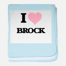 I Love Brock (Heart Made from Love wo baby blanket