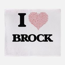 I Love Brock (Heart Made from Love w Throw Blanket