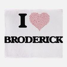 I Love Broderick (Heart Made from Lo Throw Blanket