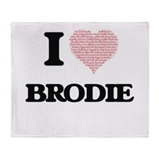 I Love Brodie (Heart Made from Love Throw Blanket