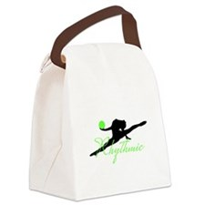 Green Rhythmic Gymnast Canvas Lunch Bag