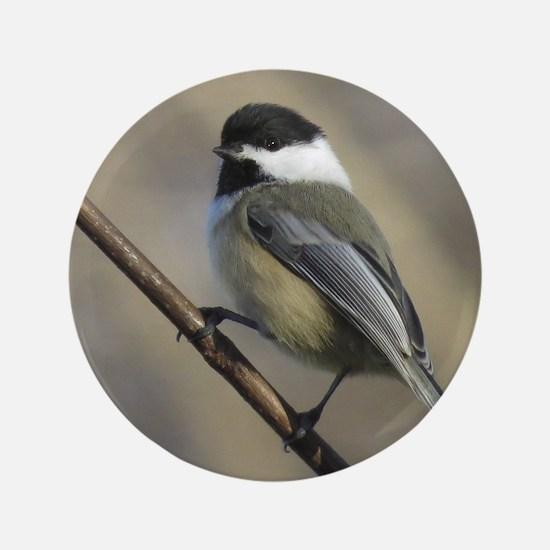 Chickadee Bird Button