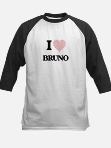 I Love Bruno (Heart Made from Love Baseball Jersey