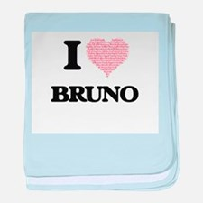I Love Bruno (Heart Made from Love wo baby blanket